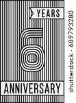 6 years anniversary logo.... | Shutterstock .eps vector #689793280