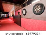 Darts boards in club - stock photo