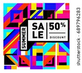summer sale colorful style... | Shutterstock .eps vector #689796283