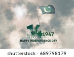pakistan independence day... | Shutterstock . vector #689798179