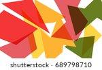 colorful geometric shape... | Shutterstock .eps vector #689798710