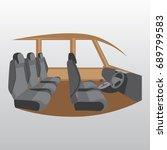 illustration of a car interior | Shutterstock .eps vector #689799583