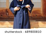 tie a hanbok korean traditional ...   Shutterstock . vector #689800810