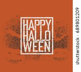halloween abstract logo.... | Shutterstock . vector #689801209
