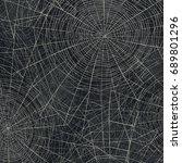spider web  raster illustration.... | Shutterstock . vector #689801296