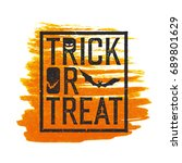 happy halloween logotype. ...   Shutterstock . vector #689801629