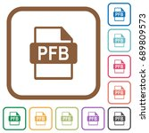 pfb file format simple icons in ... | Shutterstock .eps vector #689809573