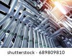 industrial zone  steel... | Shutterstock . vector #689809810