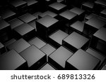 abstract background of cubes.... | Shutterstock . vector #689813326