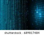 future technology  blue cyber...   Shutterstock .eps vector #689817484