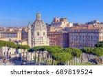 view of santissimo nome di... | Shutterstock . vector #689819524