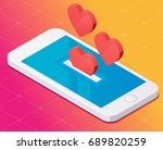 concept with mobile phone and... | Shutterstock .eps vector #689820259