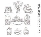 Sweets In Glass Jars Of Variou...