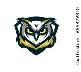 owl   vector logo   icon mascot ... | Shutterstock .eps vector #689829820