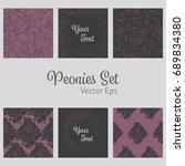 vector set with flower design.... | Shutterstock .eps vector #689834380