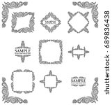 frames. decorative elements.... | Shutterstock .eps vector #689836438