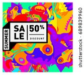 summer sale colorful style... | Shutterstock .eps vector #689839960