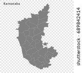 high quality map of karnataka... | Shutterstock .eps vector #689842414