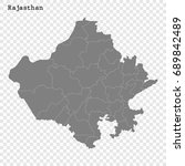high quality map of rajasthan... | Shutterstock .eps vector #689842489