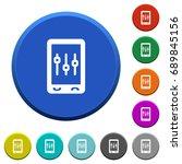 mobile tweaking round color... | Shutterstock .eps vector #689845156