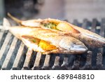 grilled fish | Shutterstock . vector #689848810