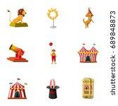 circus equipment icons set.... | Shutterstock .eps vector #689848873
