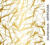 golden and white seamless... | Shutterstock .eps vector #689852686