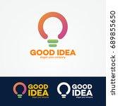 idea logo set with light bulb...   Shutterstock . vector #689855650