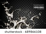 splashing transparent liquid ... | Shutterstock .eps vector #689866108