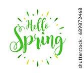 hello spring   vintage...   Shutterstock .eps vector #689872468