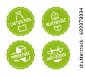 set of allergen free badges.... | Shutterstock .eps vector #689878834