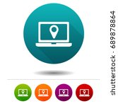 location icons. laptop signs.... | Shutterstock .eps vector #689878864