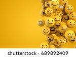 emoji emoticon character... | Shutterstock . vector #689892409