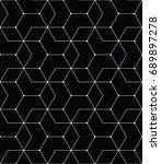 seamless geometric line grid... | Shutterstock .eps vector #689897278