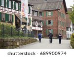 traditional half timbered... | Shutterstock . vector #689900974