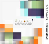 abstract vector blocks template ... | Shutterstock .eps vector #689916478