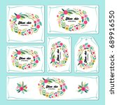 hand drawn floral elements for... | Shutterstock . vector #689916550