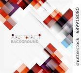 abstract vector blocks template ... | Shutterstock .eps vector #689918080