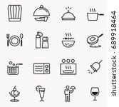 basic small restaurant icon... | Shutterstock .eps vector #689918464