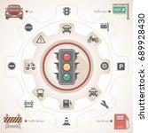 traffic theme | Shutterstock .eps vector #689928430