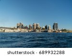 generic modern cityscape with... | Shutterstock . vector #689932288