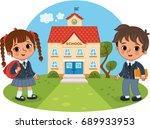back to school  vector... | Shutterstock .eps vector #689933953