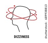 dizziness. logo or icon... | Shutterstock .eps vector #689938813
