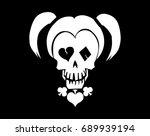 black and white skull vector...