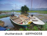 boats during beautiful morning... | Shutterstock . vector #689940058