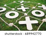 outdoor games   tic tac toe | Shutterstock . vector #689942770