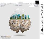 building in the city brain   ... | Shutterstock .eps vector #689943604