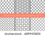 set of geometric seamless... | Shutterstock .eps vector #689945800