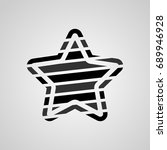 star vector icon. template for... | Shutterstock .eps vector #689946928