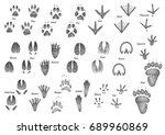 animal footprint collection... | Shutterstock .eps vector #689960869